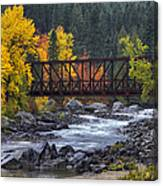 Old Pipeline Bridge Canvas Print