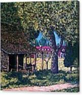 Old Plantation Tool House Canvas Print