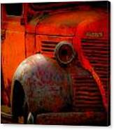 Old Plymouth Red Canvas Print