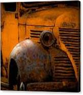 Old Plymouth Yellow Canvas Print