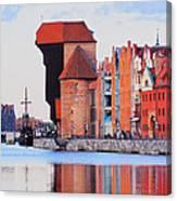 Old Port Crane In Gdansk Canvas Print