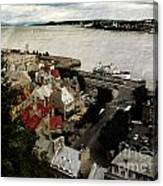 Old Quebec City By St.lawrence Canvas Print