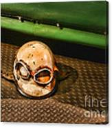 Old Racing Helmet Canvas Print