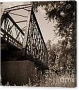 Old Rail Bridge Canvas Print