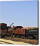 Old Railroad Cars From The Series View Of An Old Railroad Canvas Print
