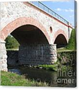 Old Railway Bridge In Silute. Lithuania. Summer Canvas Print