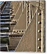 Old Railway Bridge In The Netherlands Canvas Print