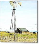 Old Ranch Windmill Canvas Print