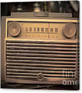 Old Rca Victor Antique Vintage Radio Canvas Print