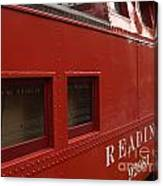 Old Reading Rr Caboose In Lititz Pa Canvas Print