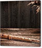 Old Recorder Canvas Print