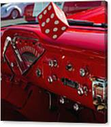 Old Red Chevy Dash Canvas Print