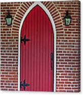 Old Red Door Bullet Shaped Canvas Print