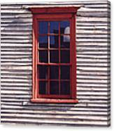 Old Red Window Canvas Print