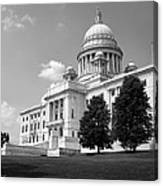 Old Rhode Island State House Bw Canvas Print