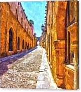 The Old Rhodes Town Canvas Print