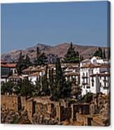 Old Ronda Panoramic. Andalusia. Spain Canvas Print