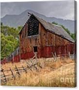 Old Rural Barn In Thunderstorm - Utah Canvas Print