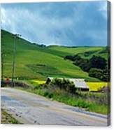 Old Rural Road On The Way To Heavenly Lands Canvas Print