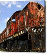 Old Rusted Locomotive Canvas Print