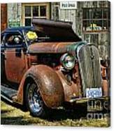 Old Rusty Car At The Old Shop  Ca5083a-14 Canvas Print
