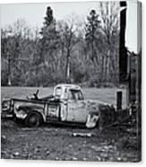 Old Rusty Gmc Pickup Canvas Print