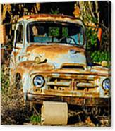 Old Rusty International Flatbed Truck Canvas Print