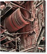 Old Rusty Pipes Canvas Print