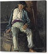 Old Sailor Wearing A Beret, 1889 Canvas Print