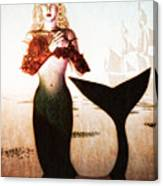 Old Sailors Dream - The Mermaid Canvas Print