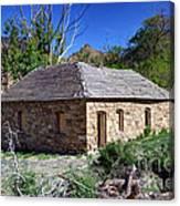 Old Sandstone Brick Farm House Nine Mile Canyon - Utah Canvas Print