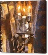Old Santa Fe Lamp Canvas Print