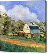 Old Saunders Barn Canvas Print