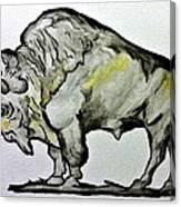 Old School Buffalo Canvas Print
