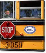Old School Bus 1 Canvas Print