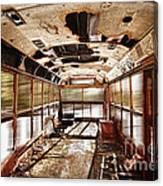 Old School Bus In Motion Hdr Canvas Print