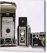 Old School Cameras Canvas Print