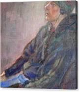 Old School - Contemporary Portrait Canvas Print
