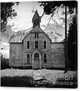 Old School House Canvas Print