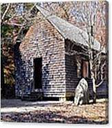 Old Schoolhouse Building Canvas Print