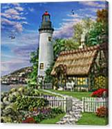 Old Sea Cottage Canvas Print