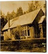 Old Sepia Photo Old Farmhouse H A Canvas Print