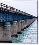 Old Seven Mile Bridge Canvas Print