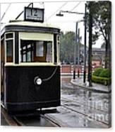 Old Shanghai Trolley Tram Car Rests In Tracks Canvas Print