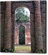 Old Sheldon Ruins Archway Canvas Print
