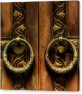 Old Steel Door Canvas Print