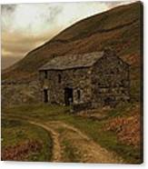 Old Stone Barn Canvas Print