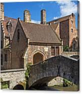Old Stone Bridge In Bruges  Canvas Print