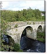 Old Stone Bridge In Scotland Canvas Print