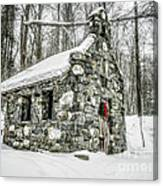 Old Stone Chapel Stowe Vermont Canvas Print